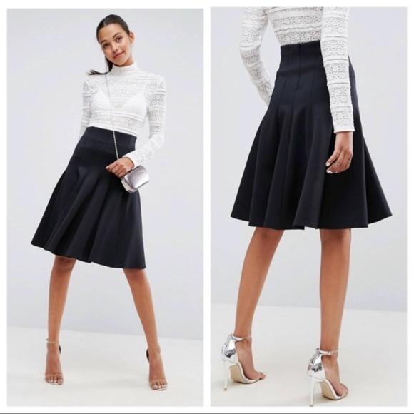 e24e0b046 ASOS Skirts   Prom Skirt With High Waist In Scuba   Poshmark